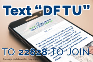 "Text ""DFTU"" to 22828 to join. Message and data rates may apply."
