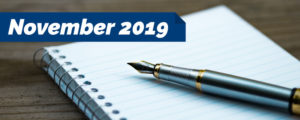 Read more about the article November 2019 – Notes from the President